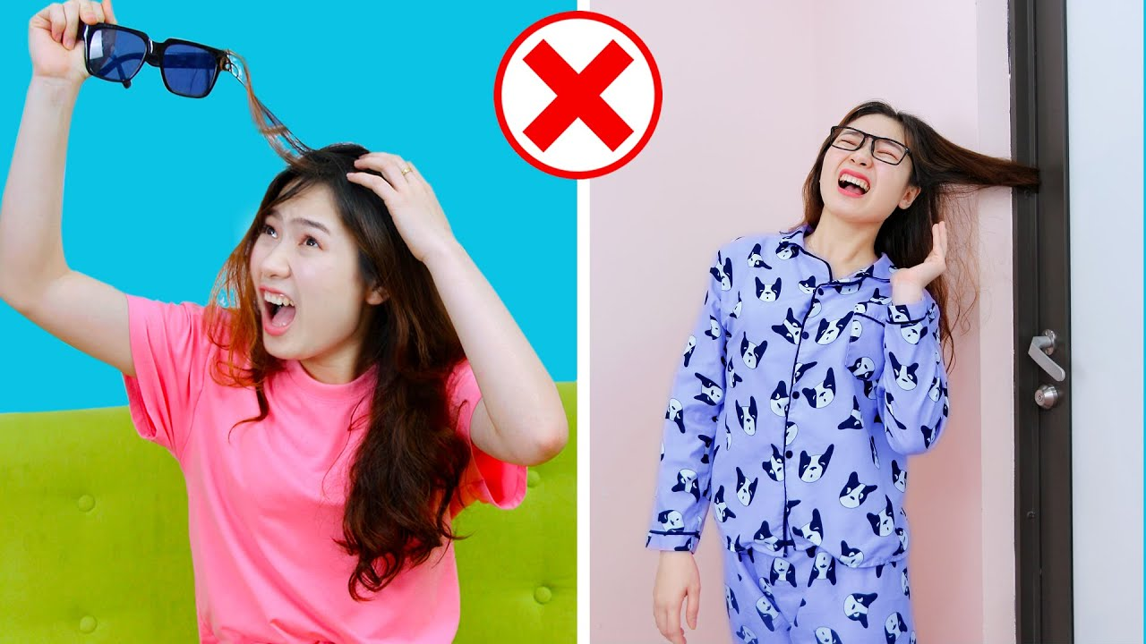 Extremely Long Hair Struggles ++ Girls Problems in Real Life with Monkey Funny Easy Pranks