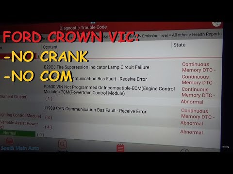 Ford Crown Vic - No Start, Cranks OK , No Communication w