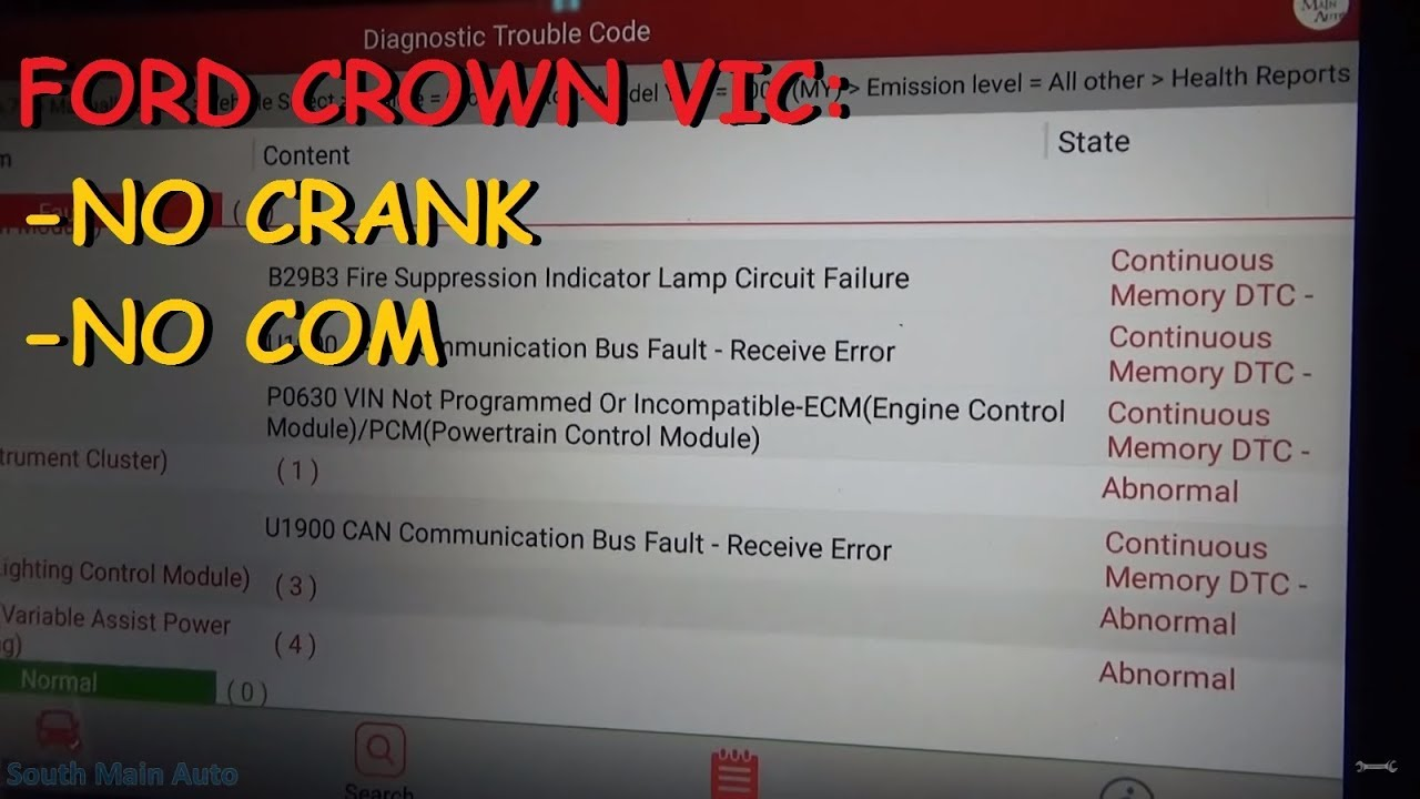 ford crown vic no start cranks ok no communication w pcm [ 1280 x 720 Pixel ]