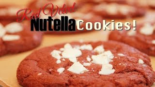 Red Velvet Nutella Cookies