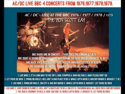 AC/DC LIVE FOR THE BBC - 4 LIVE CONCERTS FROM 1976,77,78,79, FROM THE BON SCOTT YEARS