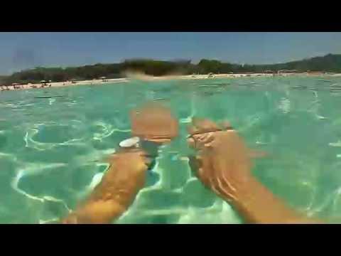 Sakarun beach Croatia Dugi Otok - one of the most beautiful sandy beaches - GoPro
