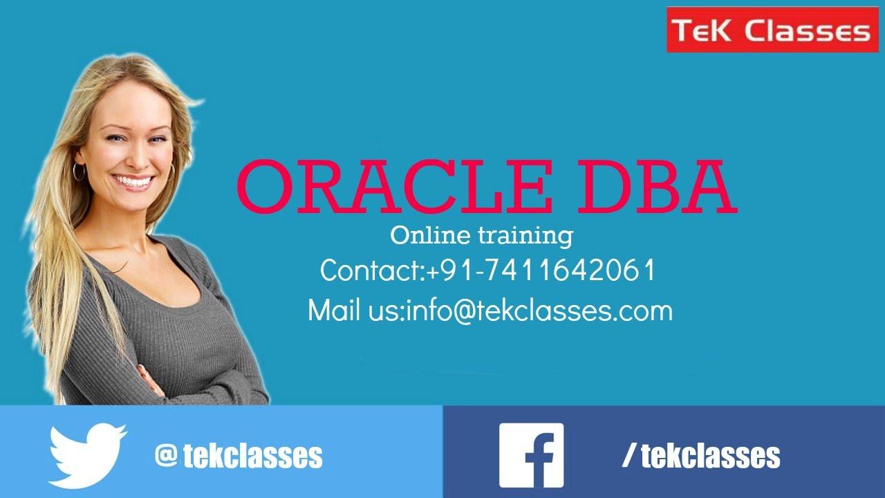 Online Oracle DBA Training Videos | Best Oracle DBA Training | Oracle DBA  Online Training