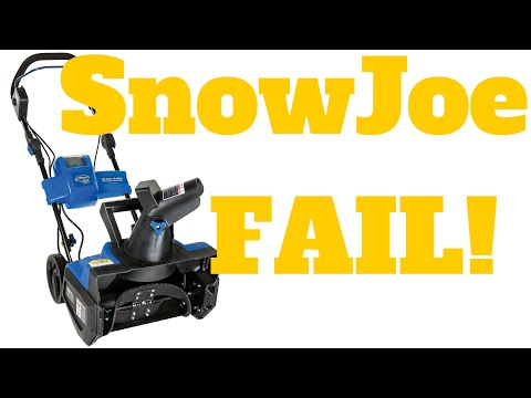 REVIEW: Snow Joe iON18SB Ion Cordless Snow Blower Rechargeable Ecosharp 40-volt Lithium-Ion Battery