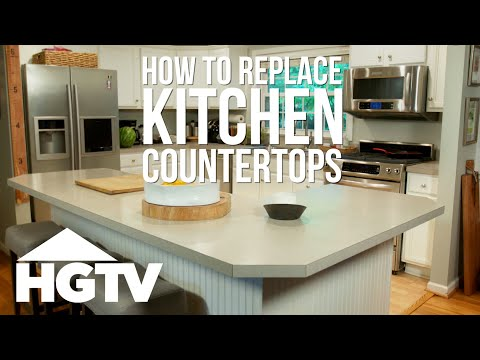 How to Remove Laminate Kitchen Countertops - HGTV - YouTube