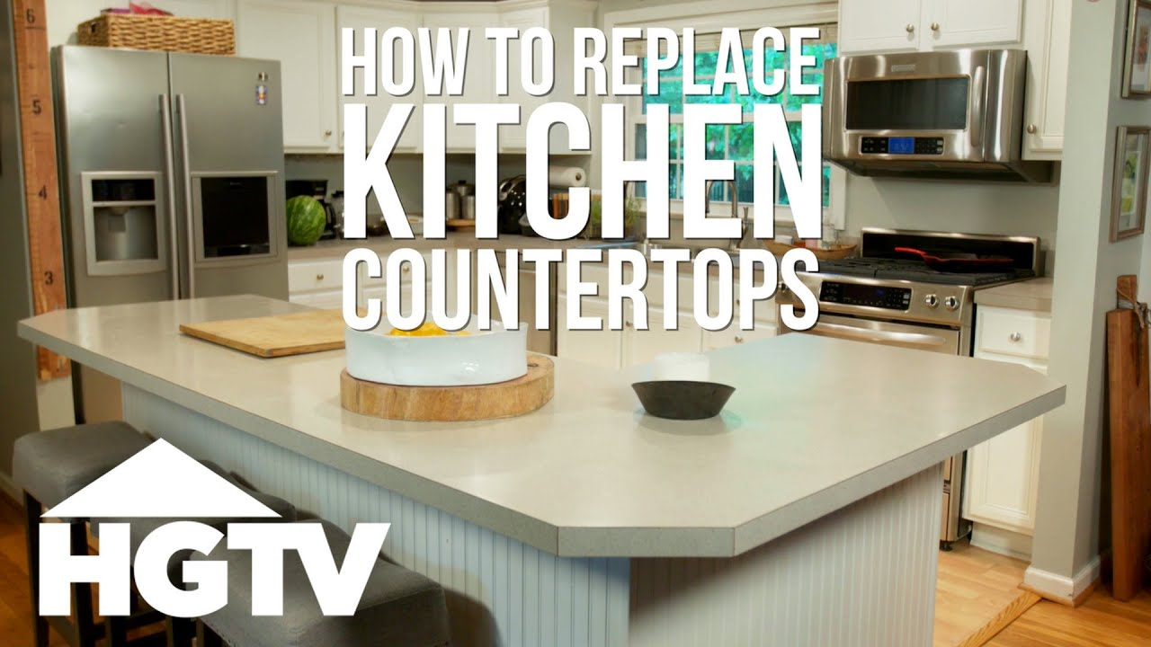 How To Remove Laminate Kitchen Countertops Hgtv Youtube