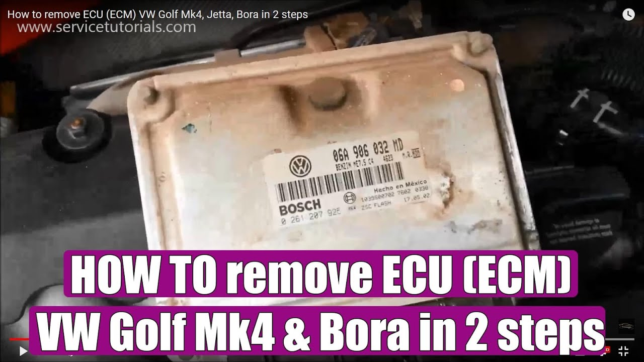 How to remove ECU (ECM) VW Golf Mk4, Jetta, Bora in 2 ...