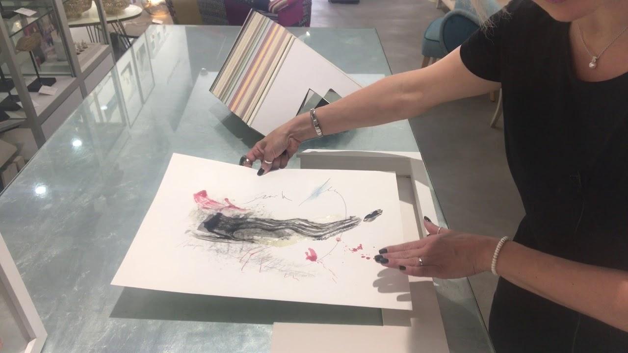 El Como Enmarcar Una Acuarela Sammyart Consejos Para Enmarcar Cuadros Modernos Art Boutique Valen Youtube