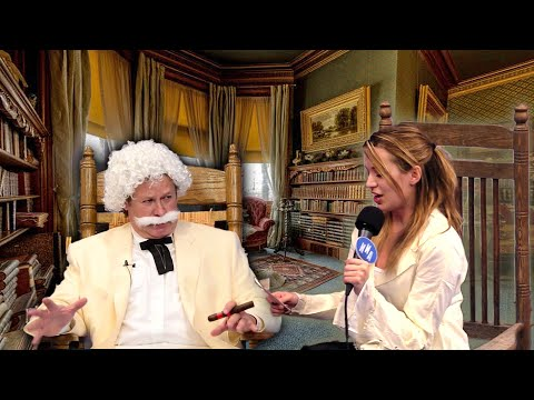 Interview Mark Twain AKA Samuel Clemens on his 70th B-Day