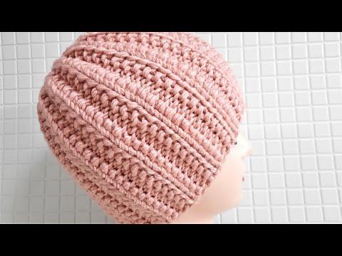 Женская зимняя шапка спицами связать
