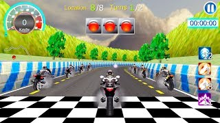 Moto Racing 3D - Gameplay Android free games - The most exciting racing games