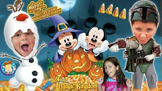 Trick or Treating in DISNEY WORLD! Mickey&#39s Not So Scary Halloween Party 2015 FV Family Trip