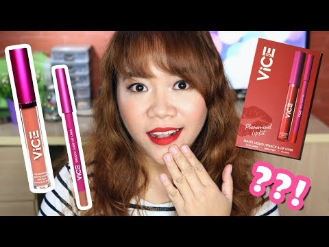 VICE COSMETICS PHENOMENAL LIP KIT | Review and Try-On (Pony and Phenom)