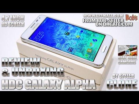 "HDC Galaxy Alpha 4.7"" HD [REVIEW & UNBOXING] Dual Cameras, My Magazine, Fake Fingerprint Unlock"