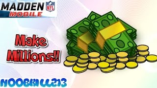 Madden Mobile 16 How to Make Millions Easy!!