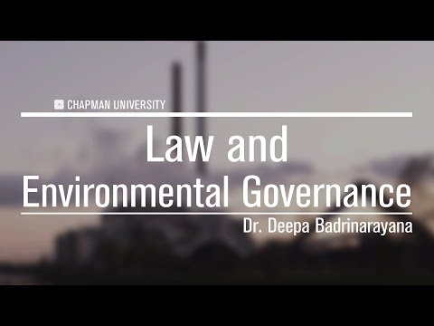 Dr. Deepa Badrinarayana - Trade Law and Environmental Concerns
