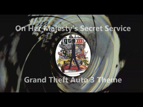 On Her Majesty's Secret Service Gunbarrel w/ Grand Theft Auto 3 Theme