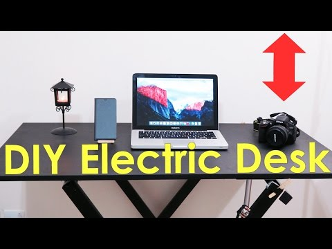 How to Make an Electric SIT and STANDING DESK - DIY