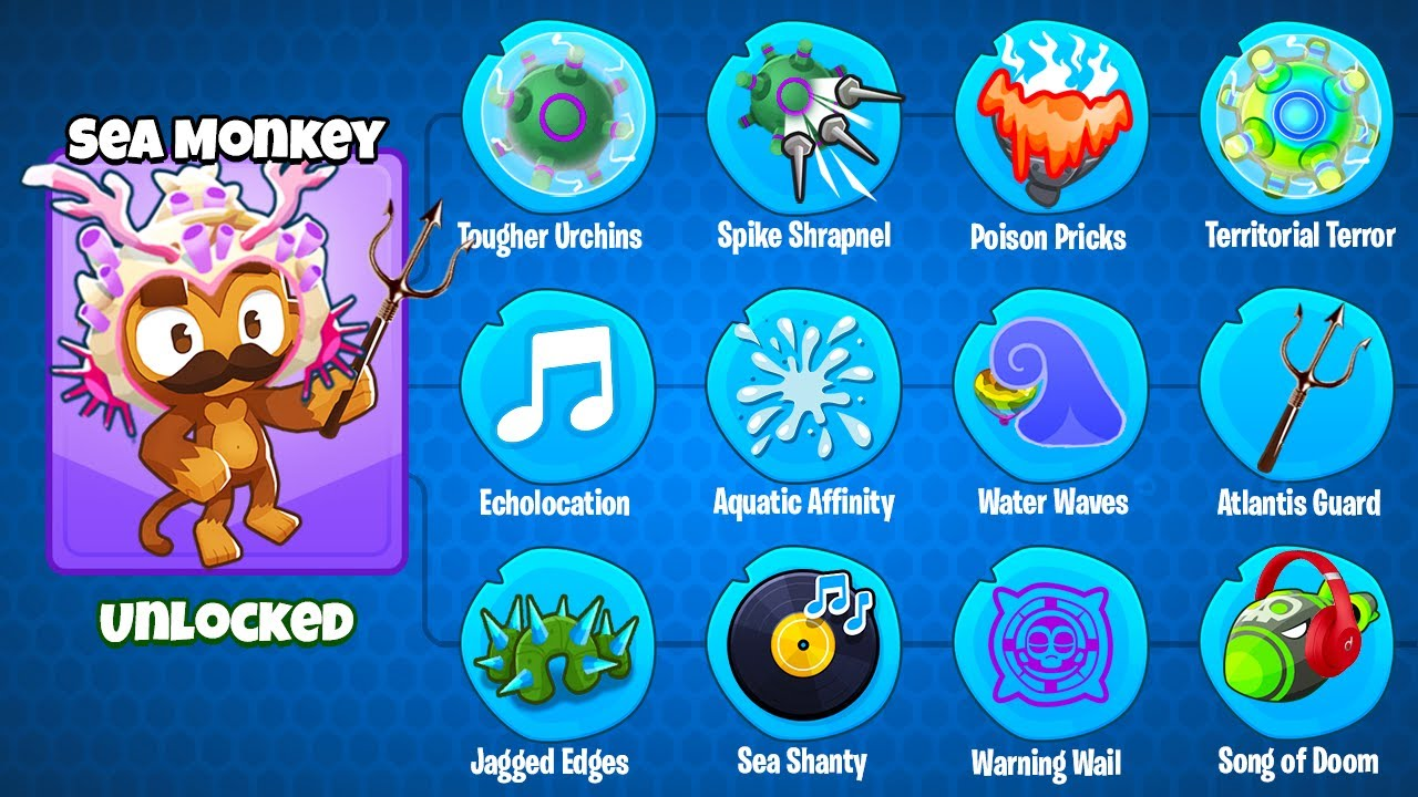 Download The Sea Monkey! (3rd Path of the Custom Modded Tower in BTD 6!)