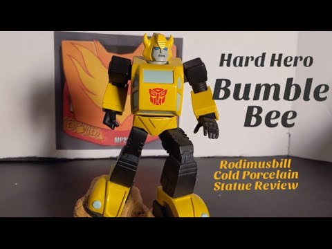 Transformers Hard Hero Bumblebee Cold Porcelain Statue Review