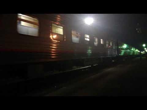 ЭП1П-030 с фирменным поездом №643 Кисловодск-Адлер отправляет со станции Невинномысск.