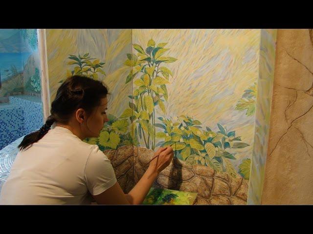 Мастер Класс Роспись пластиковой двери с применением декоративной штукатурки