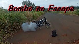 ESTOURANDO BOMBA B10 NO ESCAPE DA MOTO (Roma Street)