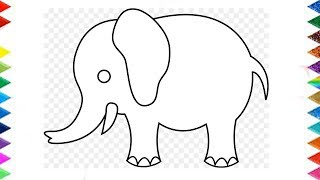 elephant draw easy drawing step very