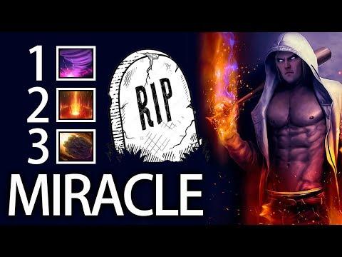 Basic Combo with Miracle Best Invoker 7.06 Gameplay dota 2
