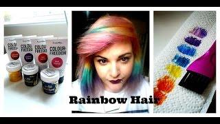 Rainbow Hair Dye // Colour Freedom & Directionz