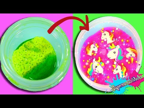 Reparando Slimes casero y comprado (Slime makeover) /Supermanualidades