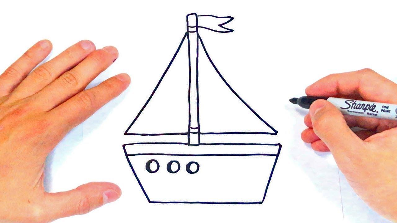 Cómo Dibujar Un Barco Paso A Paso Dibujo De Barco Youtube