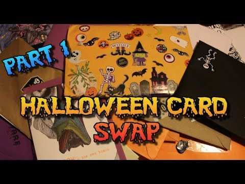 CARD SWAP PART 1 - Spooky Halloween Mail and Gifts (Part 1)