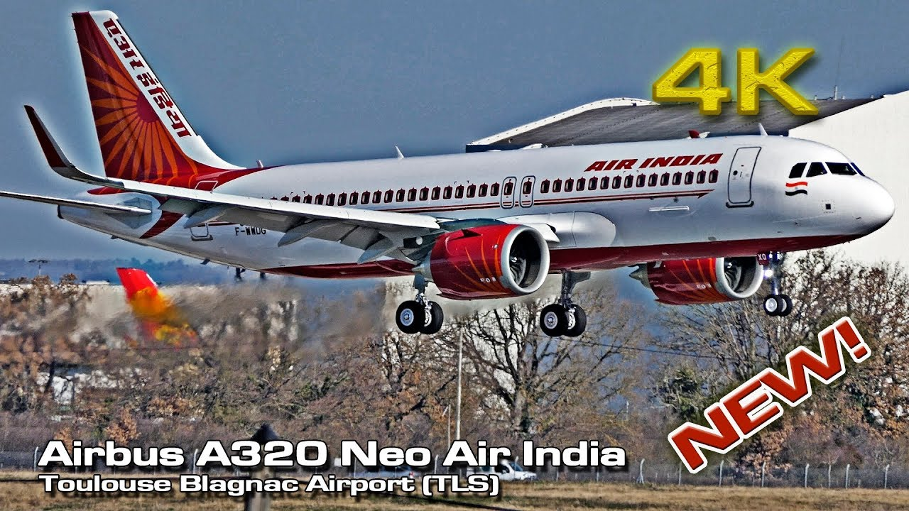 New Airbus A320 Neo Air India [4K] (VT-EXQ) banking!