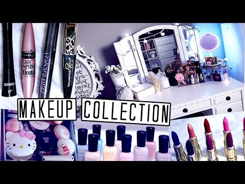 MAKEUP COLLECTION & VANITY TOUR ❤ STORAGE + HOLY GRAIL SKINCARE, NAILS + MORE | lilisimply