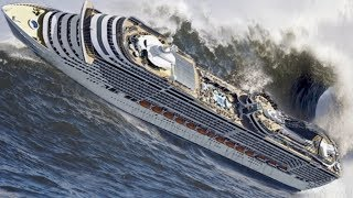 TOP 10 SHIPS in STORM! Incredible Monster Waves! A Video You Must See!