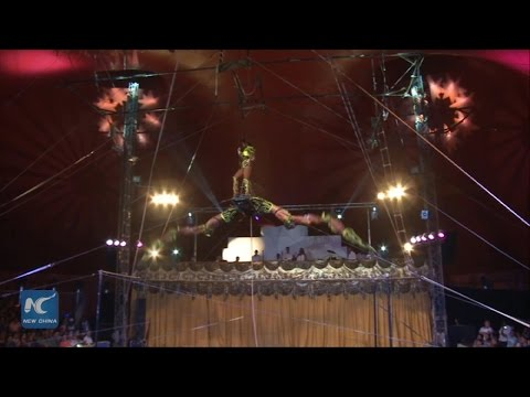 RAW: Acrobats from 17 countries attend circus festival in Havana