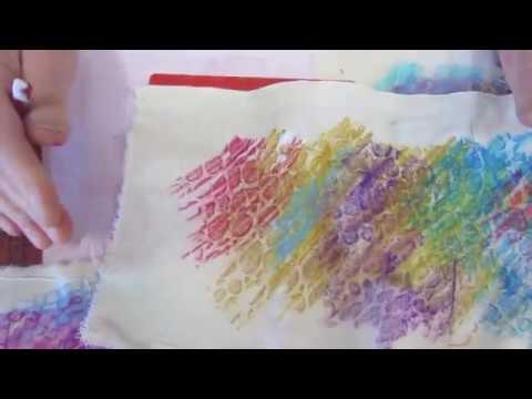 Mixed Media Art With Markal Sticks - Creative Painting Ideas