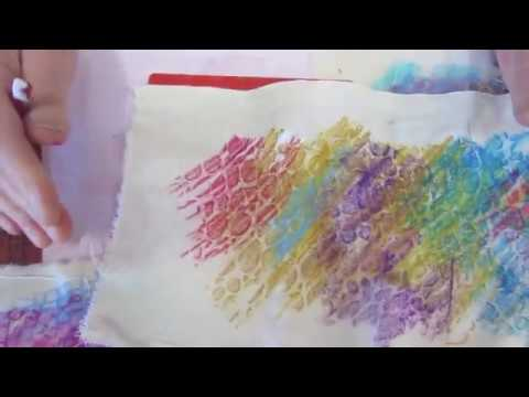 Mixed Media Art With Markal Sticks   Creative Painting Ideas