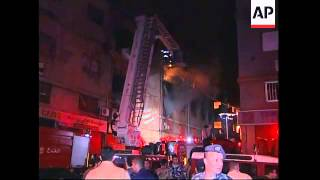 WRAP Large explosion in Beirut, buildings on fire, wounded