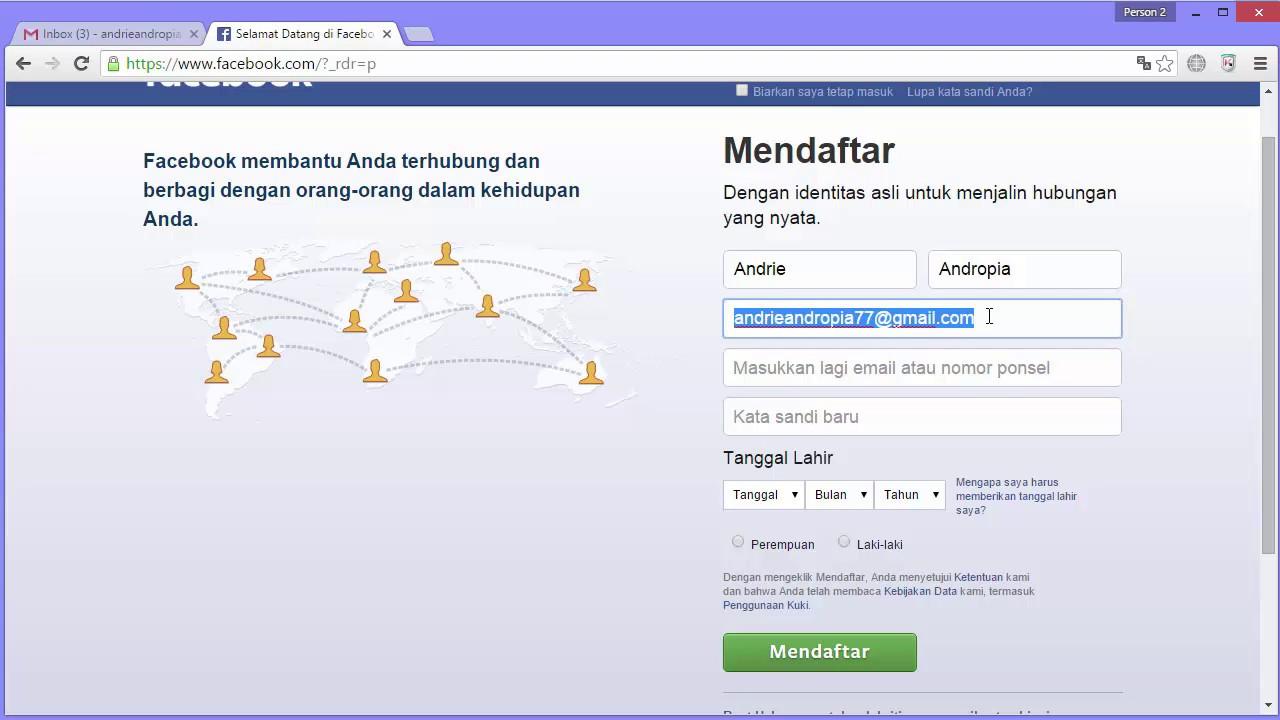 3 Cara Mendaftar dan Membuat Akun di Facebook - YouTube