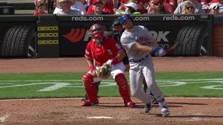 NYM@CIN: Plawecki launches a solo shot to left