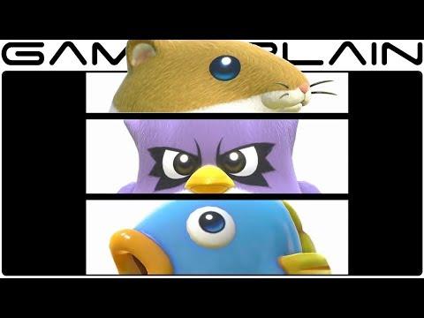 Kirby Star Allies - Rick, Kine, & Coo Gameplay Trailer