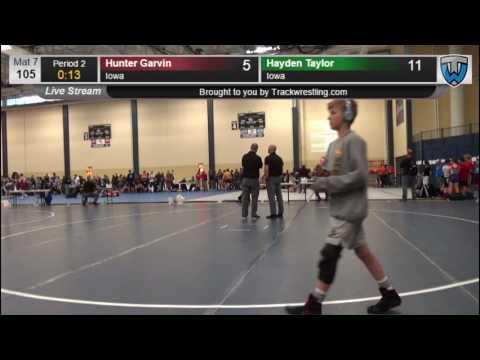 3142 Schoolboy 105 Hunter Garvin Iowa vs Hayden Taylor Iowa 7862284104