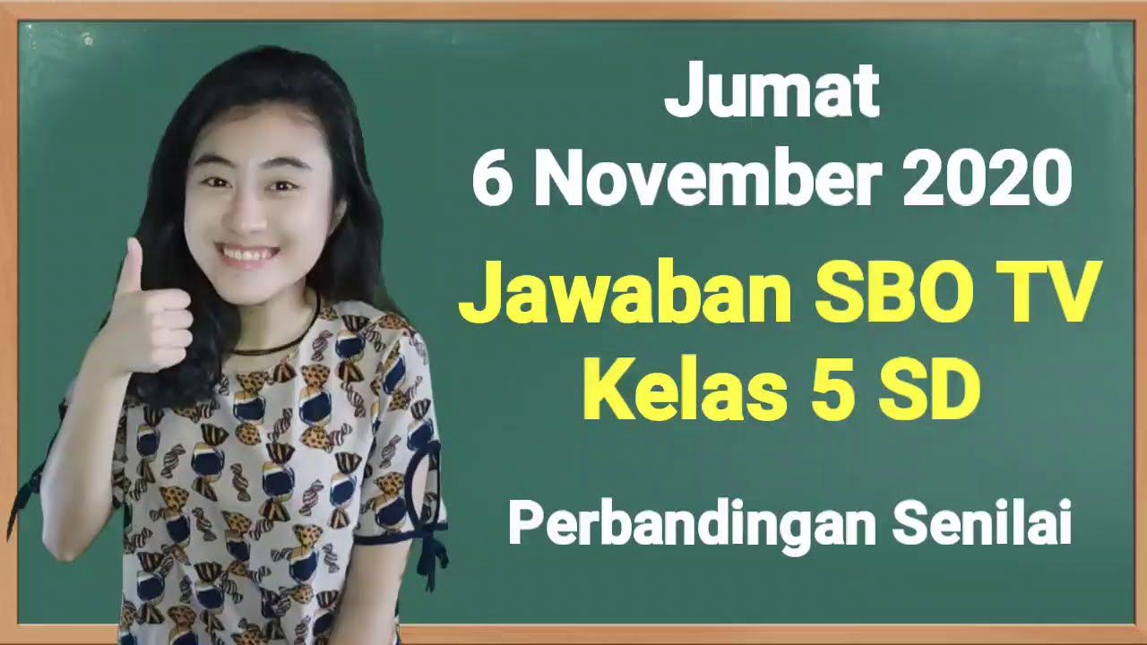 Kunci Jawaban SBO TV Kelas 5 SD Jumat 6…