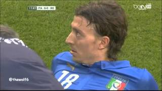 Montolivo Injury - Italy VS Ireland  31-5-2014