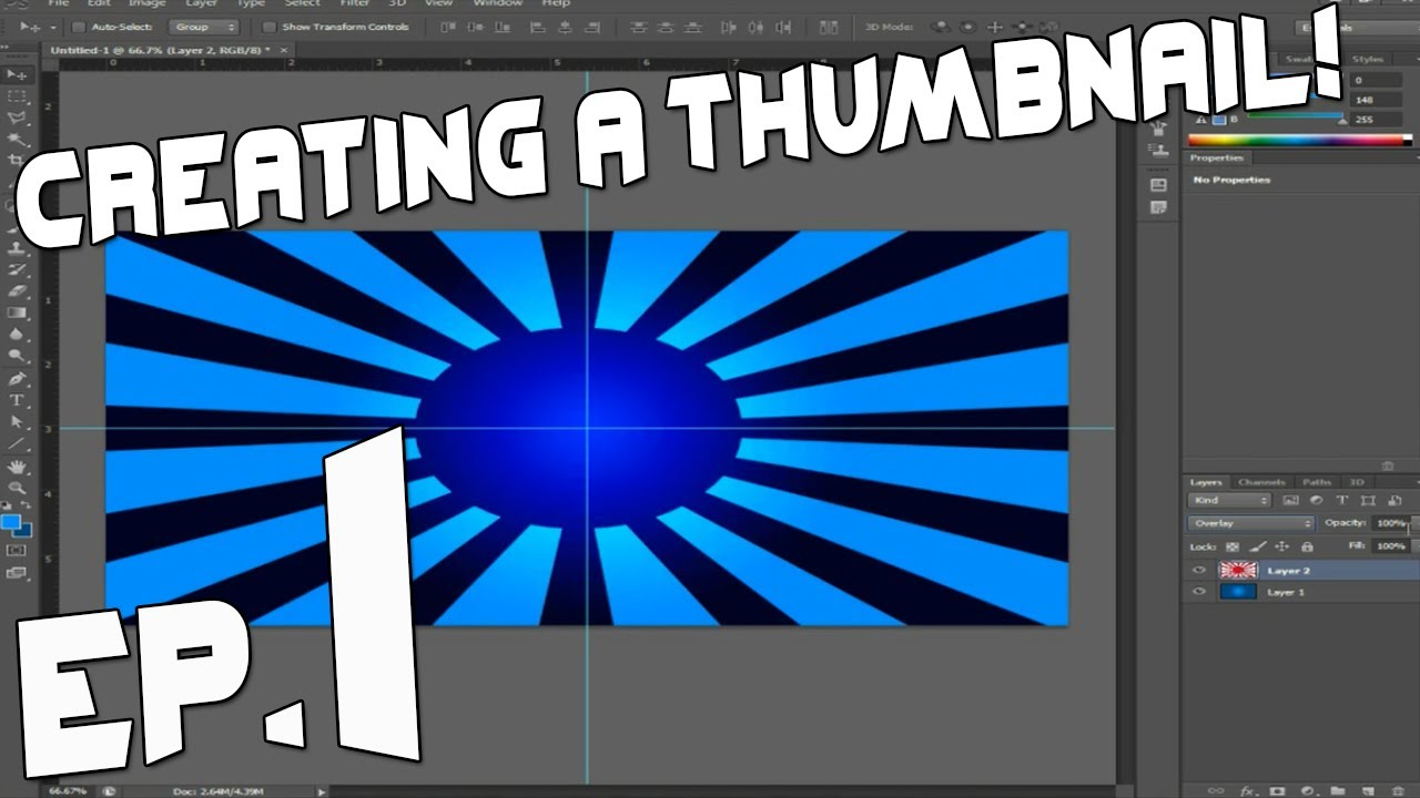 Photoshop: Creating a Thumbnail! Episode 1 - BACKGROUNDS! - YouTube
