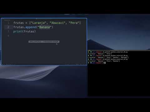 Append em Listas / Array (Python Tutorial #44) thumbnail