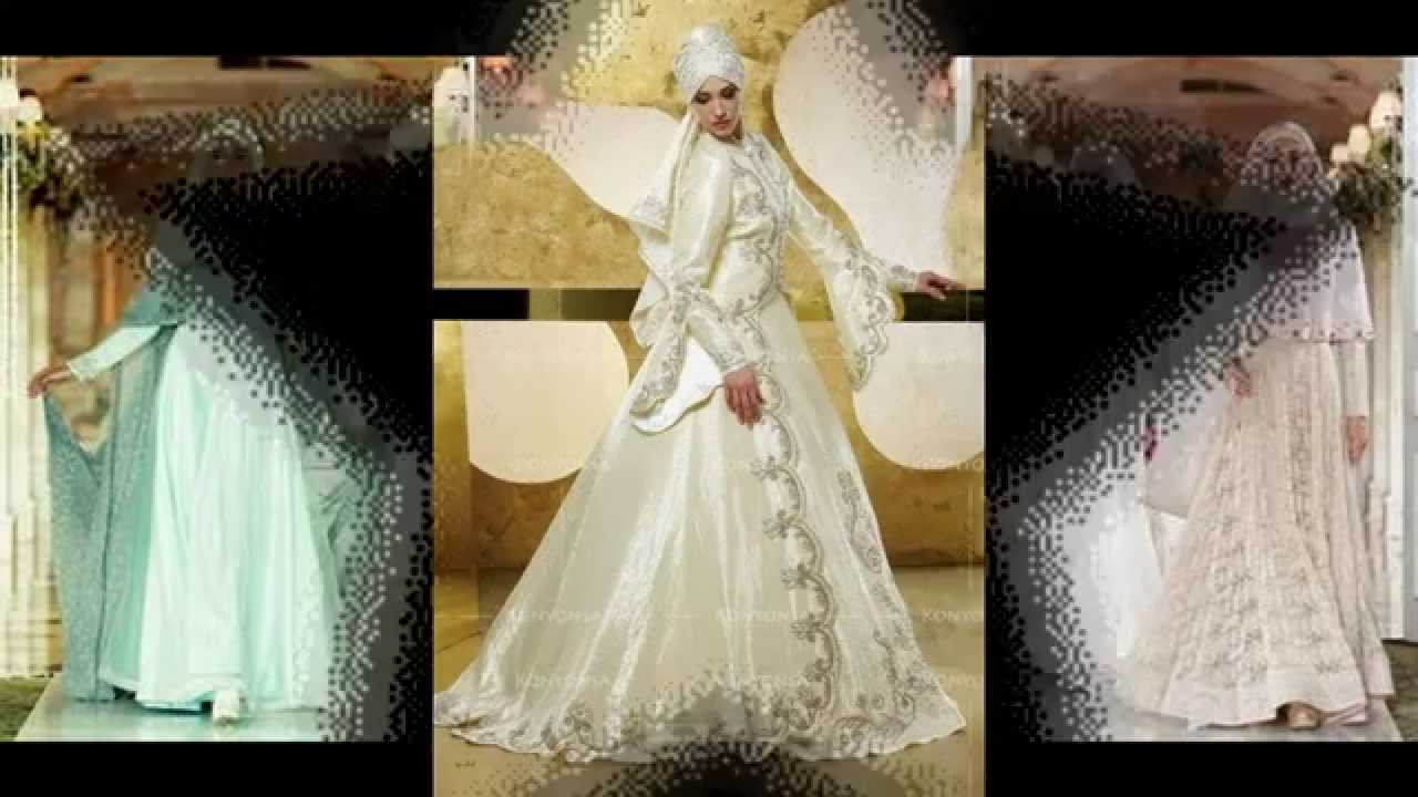 Model Terbaru Gaun Pengantin Muslimah 2015 2016 Youtube