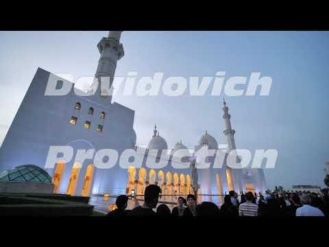 Dubai, UAE – December 14, 2019: Grand Mosque in Abu Dhabi at night, United Arab Emirates.